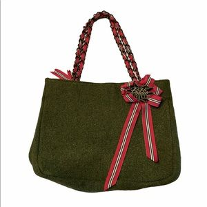 Goldie Green Limited Edition Wool Tote